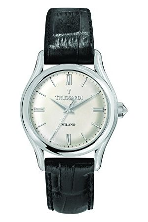 Trussardi Męski analogowy kwarcowy zegarek ze skórzanym paskiem R2451127004
