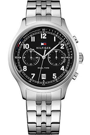 Tommy Hilfiger Męski data klasyczny zegarek kwarcowy ze skórzanym paskiem 1791389