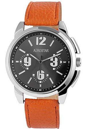 Aerostar Męski analogowy zegarek kwarcowy ze skórzanym paskiem 21102130006