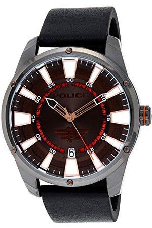 Police Unisex dla dorosłych analogowy zegarek kwarcowy ze skórzanym paskiem PL15413JSU.12