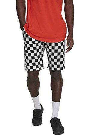 Urban classics Męskie szorty krótkie spodnie ze wzorem szachownicy Check Twill Shorts