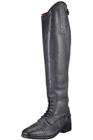 HKM Buty do jazdy konnej Valencia skórzane unisex długość/szerokość 36-46 spodnie, czarne/szare EU