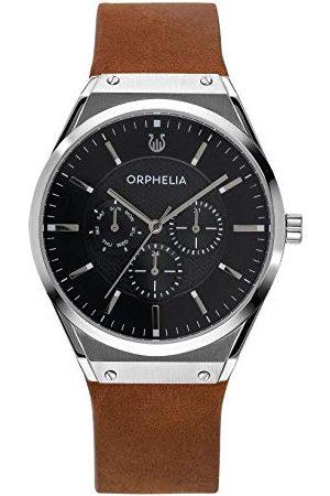 ORPHELIA Męski Multi cyferblat kwarcowy zegarek Saffiano Pasek /