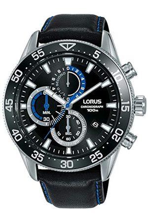 Lorus Sport męski zegarek chronograf stal szlachetna ze skórzanym paskiem RM343FX9
