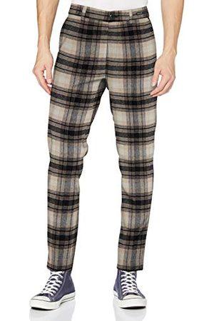 Scotch&Soda Męskie spodnie STUART - chino Regular Slim Fit - mieszanka wełny Casual Pants