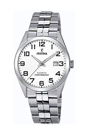 Festina Męski analogowy zegarek kwarcowy z bransoletką ze stali szlachetnej F20437/1