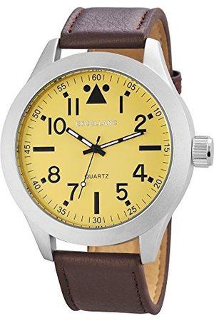 Excellanc Męski zegarek na rękę XL analogowy kwarcowy różne materiały 295027500171