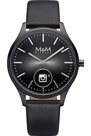 M&M Unisex dla dorosłych analogowy cyfrowy zegarek kwarcowy ze skórzanym paskiem M12000-485