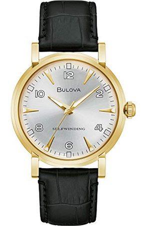 BULOVA Męski analogowy zegarek automatyczny ze skórzanym paskiem 97A152