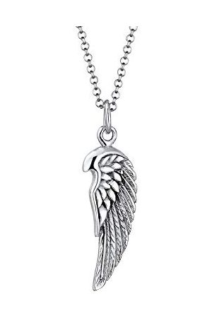 Paulo Fanello Męski łańcuszek z wisiorkiem w kształcie skrzydła ze srebra próby 925, długość 55 cm