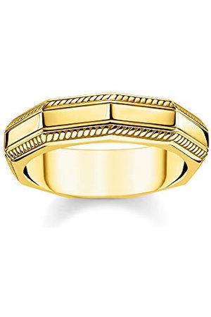 Thomas Sabo TR2276-413-39-54 pierścionek unisex, prostokątny, ze srebra wysokiej próby 925, pozłacany żółtym złotem, TR2276-413-39-54