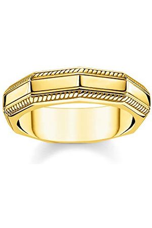 Thomas Sabo Unisex pierścionek prostokątny złoto 925 srebro szterlingowe żółte złoto TR2276-413-39-58