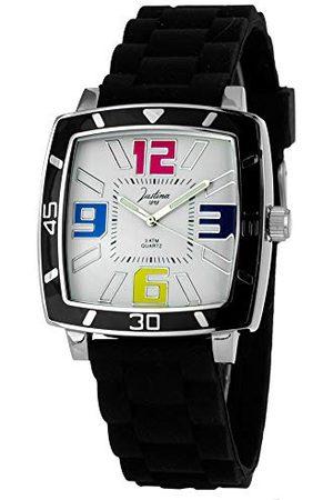 Justina Unisex zegarek na rękę analogowy kwarcowy kauczuk 21971N