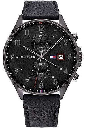Tommy Hilfiger Męski analogowy zegarek kwarcowy ze skórzaną bransoletką 1791711