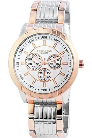 Excellanc Męski analogowy zegarek kwarcowy z różnymi materiałami bransoletka 29514250006
