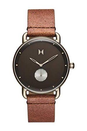 MVMT Męski analogowy zegarek kwarcowy ze skórą cielęcą, pasek 2800066-D