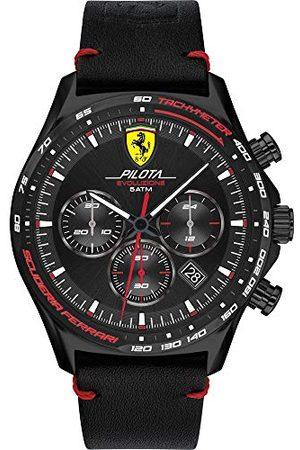 Scuderia Ferrari Męski analogowy zegarek kwarcowy ze skórzanym paskiem 0830712
