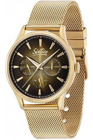 Unbekannt Sixties SIX600YGME-07 zegarek kwarcowy z bransoletką ze stali szlachetnej dla dorosłych unisex
