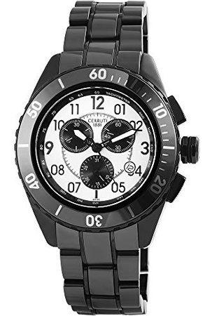 Cerruti 1881 Cerruti męski analogowy zegarek kwarcowy z ceramiczną bransoletką CRA079Z211H