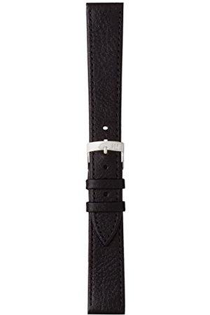 Morellato Bransoletka skórzana do zegarka męskiego Dublino, czarna, 16 mm A01U075333019CR16