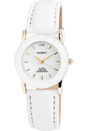 Akzent Męski analogowy zegarek kwarcowy ze skórzanym paskiem SS730200012