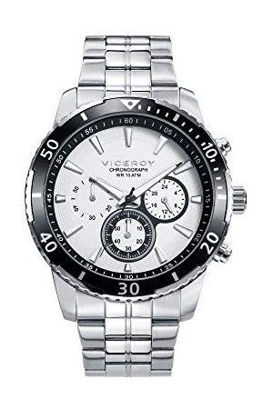 Viceroy Męski chronograf kwarcowy Smart Watch zegarek na rękę z bransoletką ze stali szlachetnej 401127-07