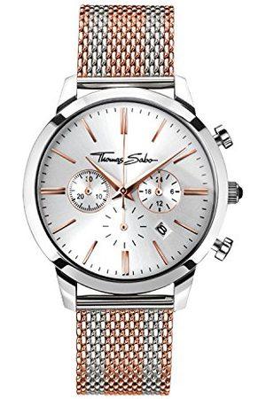 Thomas Sabo Męski zegarek na rękę analogowy kwarcowy stal szlachetna WA0287-283-201-42 mm