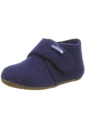 Living Kitzbühel Dziecięce buty na rzepy z filcu, jednokolorowe kapcie, - Blau Nightshadow 0585-29 EU
