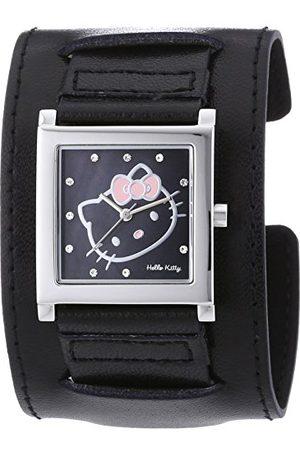 Hello Kitty Damski zegarek na rękę Hyuga Black analogowy kwarcowy sztuczna skóra HK1774-247