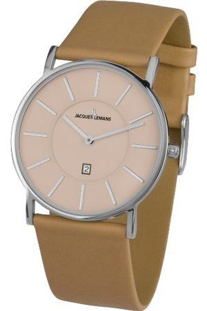 Jacques Lemans Męski zegarek na rękę XL York analogowy kwarcowy skóra 1-1620I