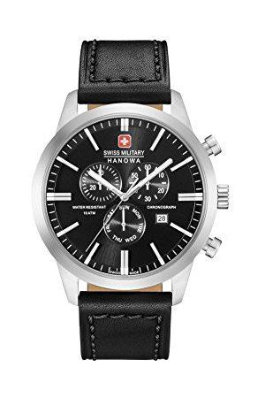 Swiss Military Męski chronograf kwarcowy zegarek ze skórzanym paskiem 06-4308.04.007
