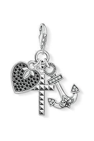 Thomas Sabo Damski męski wisiorek charm krzyż serce kotwica Charm Club srebro wysokiej próby 925 1555-643-18