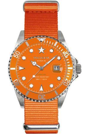 Oxygen Unisex zegarek na rękę analogowy kwarcowy nylon EX-D-SEA-40-OR