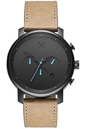 MVMT Męski analogowy zegarek kwarcowy ze skórzanym paskiem ze skóry cielęcej D-MC01GML