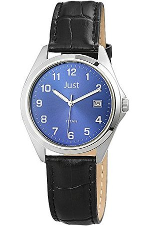 Just Watches Męski zegarek kwarcowy 48-S11008-BL ze skórzanym paskiem