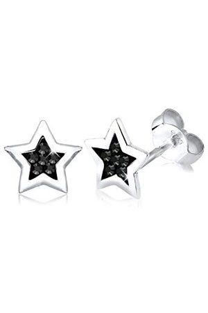 Elli Star damskie srebrne kryształowe kolczyki sztyfty 03031411