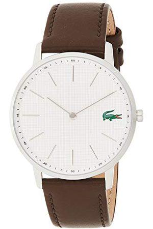 Lacoste Męski analogowy klasyczny zegarek kwarcowy ze skórzanym paskiem 2011002