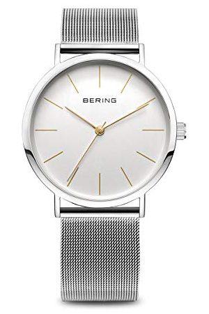 Bering Unisex zegarek na rękę analogowy kwarcowy stal szlachetna 13436-001