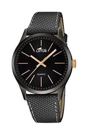 Lotus Męski analogowy zegarek kwarcowy z prawdziwej skóry 18165/2