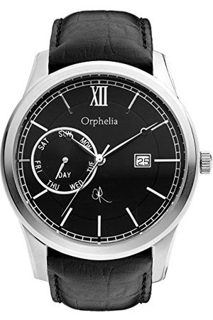 ORPHELIA Męski zegarek bogata historia analogowa skóra kwarcowy pasek /