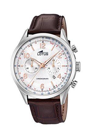 Lotus Męski analogowy zegarek kwarcowy z bransoletką z prawdziwej skóry 18557/1