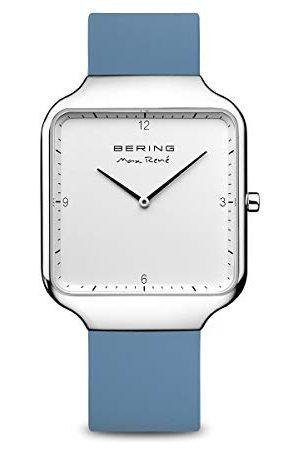 Bering Męski analogowy zegarek kwarcowy z silikonowym paskiem 15836-700