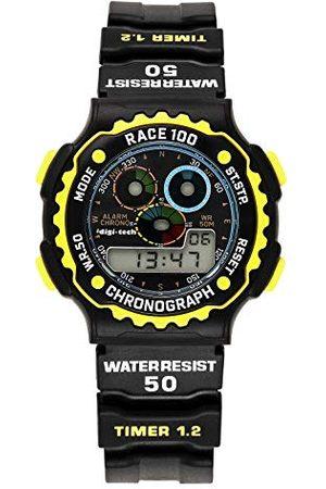 Digi-Tech Digital Chrono Race zegarek męski z paskiem kauczukowym Pasek żółty