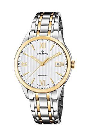 Candino Męski analogowy klasyczny zegarek kwarcowy z paskiem ze stali nierdzewnej C4694/1