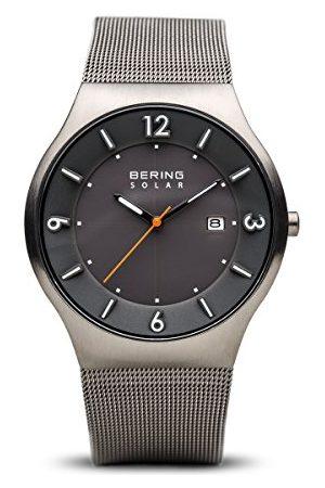 Bering Męski analogowy zegarek solarny z bransoletką ze stali szlachetnej 14440-077