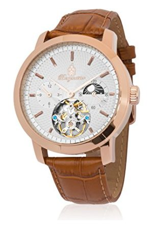 Burgmeister Męski analogowy automatyczny zegarek ze skórzanym paskiem BM225-315