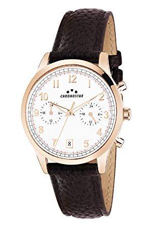 Chronostar Męski wielofunkcyjny zegarek kwarcowy ze skórzanym paskiem R3751269001