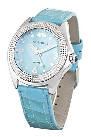Time Force Unisex Dorośli analogowy zegarek kwarcowy ze skórzanym paskiem TF1342J-03
