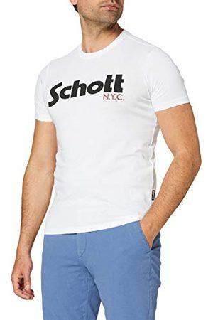 Schott NYC Męski T-shirt z logo