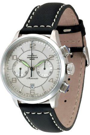 Zeno Męski zegarek na rękę XL Retro Tre Chronograf automatyczny skóra 6302BHD-g3